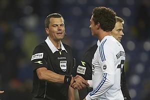 Michael Tykgaard, dommer, Georg Margreitter (FC K�benhavn)