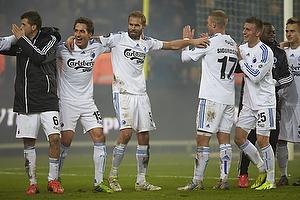 Claudemir De Souza (FC K�benhavn), Georg Margreitter (FC K�benhavn), Olof Mellberg (FC K�benhavn), Ragnar Sigurdsson (FC K�benhavn), Christoffer Remmer (FC K�benhavn)