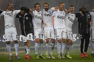 Olof Mellberg (FC K�benhavn), Georg Margreitter (FC K�benhavn), Claudemir De Souza (FC K�benhavn)