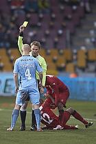Jens Maae, dommer, Johnny Thomsen (Randers FC), Joshua John (FC Nordsj�lland)