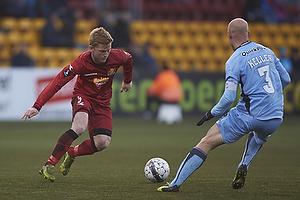 Anders Christiansen (FC Nordsj�lland), Christian Keller, anf�rer (Randers FC)