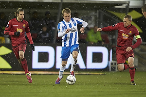 Martin Vingaard (FC Nordsj�lland), Emil Larsen (Ob),  Nikolaj Stokholm, anf�rer (FC Nordsj�lland)