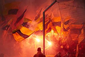 Br�ndbyfans med flag