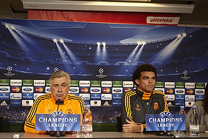 Carlo Ancelotti, cheftr�ner (Real Madrid CF), Pepe (Real Madrid CF)