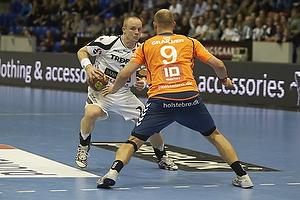 Lukas Karlsson (KIF Kolding K�benhavn), S�ren Tau (Team Tvis Holstebro)