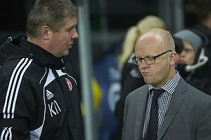 Kent Nielsen, cheftr�ner (Aab), Per Rud, sportschef (Br�ndby IF)