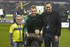 Lukas Hradecky (Br�ndby IF) modtager det gyldne bur