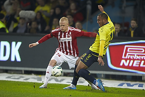 Kenneth Zohore (Br�ndby IF), Rasmus Thelander (Aab)