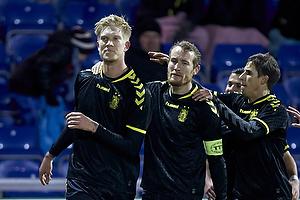 Simon Makienok Christoffersen, m�lscorer (Br�ndby IF), Thomas Kahlenberg, anf�rer (Br�ndby IF), Alexander Szymanowski (Br�ndby IF)