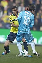 Ferhan Hasani (Br�ndby IF), Martin Vingaard (FC Nordsj�lland)