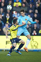 Ferhan Hasani (Br�ndby IF), Jens Stryger Larsen (FC Nordsj�lland)