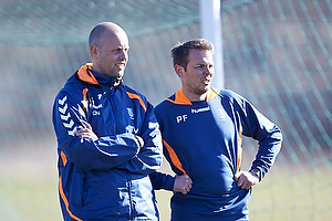 Claus N�rgaard, assistenttr�ner (Br�ndby IF), Peter Foldgast (Br�ndby IF)