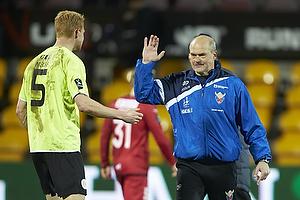 Lasse Nielsen (FC Vestsj�lland), Ove Pedersen, cheftr�ner (FC Vestsj�lland)