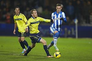 Thomas Kahlenberg, anf�rer (Br�ndby IF), Jakob Ankersen (Esbjerg fB)
