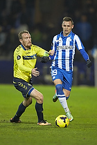 Thomas Kahlenberg, anf�rer (Br�ndby IF), Jakob Ankersen (Esbjerg fB)