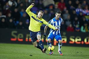 Thomas Kahlenberg, anf�rer (Br�ndby IF), Magnus Lekven (Esbjerg fB)