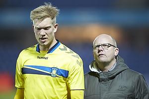 Simon Makienok Christoffersen (Br�ndby IF), Per Rud, sportschef (Br�ndby IF)