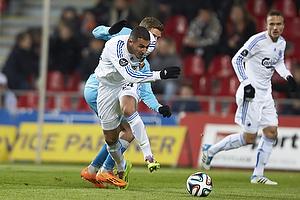 Youssef Toutouh (FC K�benhavn), Jens Stryger Larsen (FC Nordsj�lland)