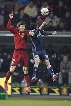 Ivan Runje (FC Nordsj�lland), David Devdariani (Agf)