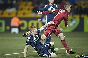 Nikolaj Stokholm, anf�rer (FC Nordsj�lland), Mikkel Kirkeskov (Agf)
