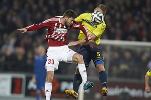 Lukas Spalvis (Aab), Martin Albrechtsen (Br�ndby IF)