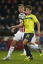 Andrew Hjulsager (Br�ndby IF), Thomas Augustinussen, anf�rer (Aab)
