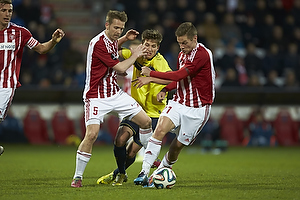 Kenneth Emil Petersen (Aab), Andrew Hjulsager (Br�ndby IF), Kasper Risg�rd (Aab)