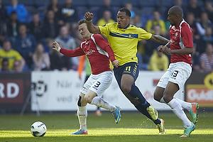 Michael Christensen (FC Vestsj�lland), Kenneth Zohore (Br�ndby IF), Jean-Claude Bozga (FC Vestsj�lland)
