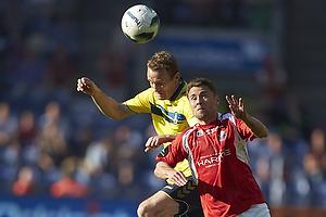 Thomas Kahlenberg, anf�rer (Br�ndby IF), Rasmus Festersen (FC Vestsj�lland)