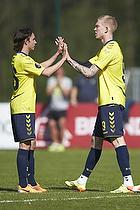 Kristian Larsen (Br�ndby IF), Simon Makienok Christoffersen, m�lscorer (Br�ndby IF)