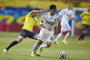 Andrew Hjulsager (Br�ndby IF), Cristian Bolanos (FC K�benhavn)