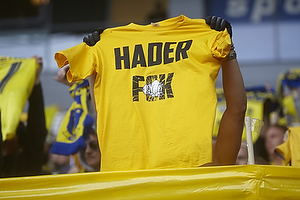 Hader FCK trykt p� en br�ndbyfans t-shirt