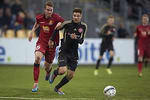 Andreas Maxs� (FC Nordsj�lland), Lukas Spalvis (Aab)