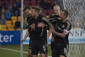 Anders Christiansen, m�lscorer (FC Nordsj�lland), Lukas Spalvis (Aab), Rasmus W�rtz, anf�rer (Aab)