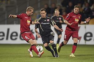 Lasse Petry (FC Nordsj�lland), Jens Stryger Larsen (FC Nordsj�lland), Anders K. Jacobsen (Aab)