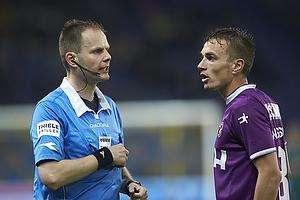 Michael Johansen, dommer, Petter Andersson (FC Midtjylland)