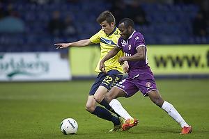 Ferhan Hasani (Br�ndby IF), Sylvester Igboun (FC Midtjylland)