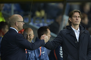 Per Rud, sportschef (Br�ndby IF), Glen Riddersholm, cheftr�ner (FC Midtjylland)