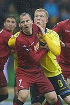 Nikolaj Stokholm, anf�rer (FC Nordsj�lland), Simon Makienok Christoffersen (Br�ndby IF)
