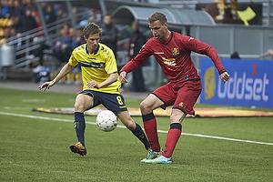 Alexander Szymanowski (Br�ndby IF), Kim Aabech (FC Nordsj�lland)