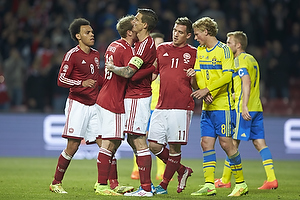 Daniel Agger, m�lscorer (Danmark), Christian Eriksen (Danmark), Morten Duncan Rasmussen (Danmark), Martin C. Braithwaite (Danmark)