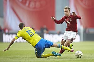 Andreas Granqvist (Sverige), Christian Eriksen (Danmark)