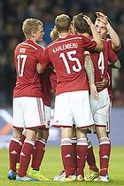 Thomas Kahlenberg (Danmark), Daniel Agger, m�lscorer (Danmark), Kasper Kusk (Danmark)