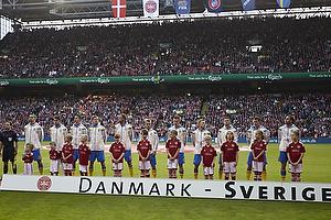 Det svenske hold i Parken