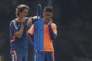 Patrick Da Silva (Br�ndby IF), Thomas Frank, cheftr�ner (Br�ndby IF), Svenn Crone (Br�ndby IF)