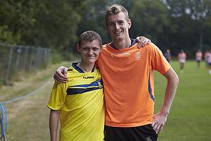 Lukas Hradecky (Br�ndby IF) med en fremm�dt br�ndbyfan