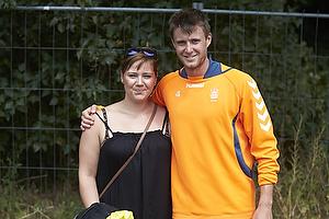 Daniel Stenderup (Br�ndby IF) med en fremm�dt br�ndbyfan