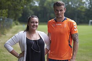 Mikkel Thygesen (Br�ndby IF) med en fremm�dt br�ndbyfan
