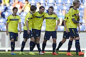Johan Elmander, m�lscorer (Br�ndby IF), Martin �rnskov (Br�ndby IF), Martin Albrechtsen, anf�rer (Br�ndby IF)