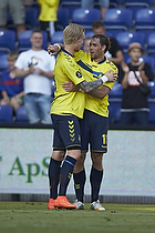 Johan Elmander, m�lscorer (Br�ndby IF), Simon Makienok Christoffersen (Br�ndby IF)